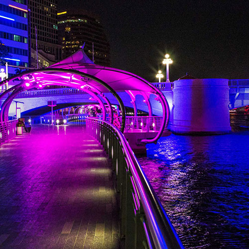 Tampa Riverwalk, located directly across the street from The Barrymore