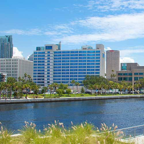 View of Hotel from Fortune Taylor Bridge Across Hillsborough River
