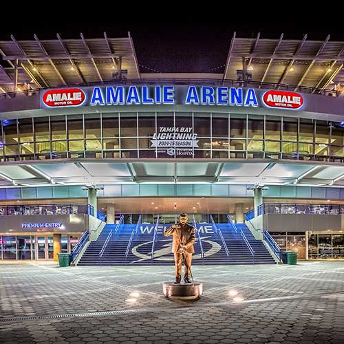 Amalie Arena in downtown tampa